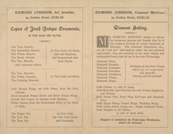 Advert For Edmond Johnson, Silversmith reverse